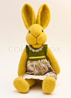 Beautiful vintage plush bunny toy