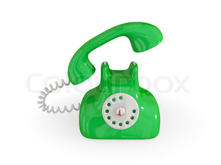 Cartoon Retro-Telefon