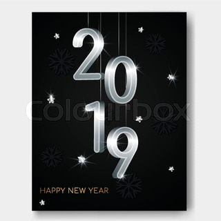 New Year Vector Abstract 3d Background Stock Vector Colourbox