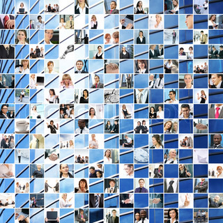 Great business collage made of 225 different pictures and abstract elements Perfect for illustrating and the best as background