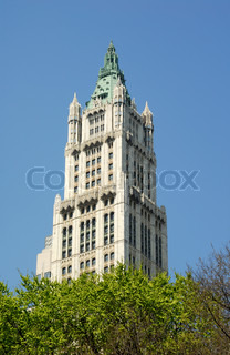 Top Of The Woolworth Building In Art Deco Style In New York City