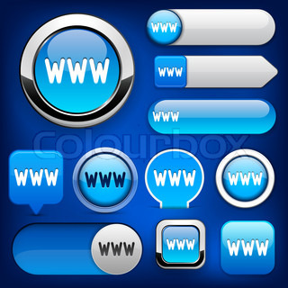 WWW high-detailed web button collection