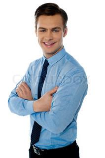 Portræt af en succesrig forretningsmand