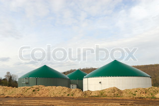 Modern biogas power plant
