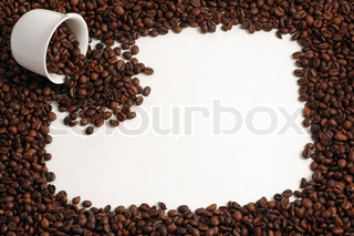 Cup of Coffee Beans with Coffee Frame