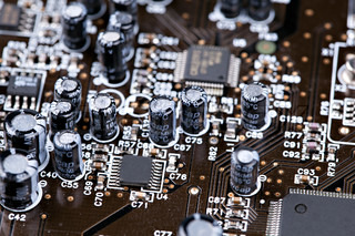 Closeup of an electronic board