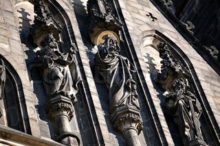 Detail of Prague gothic cathedral