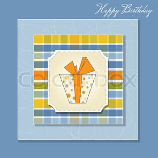 birthday card with gift box