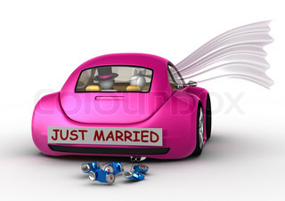 Lifestyle collection - Just married in the car