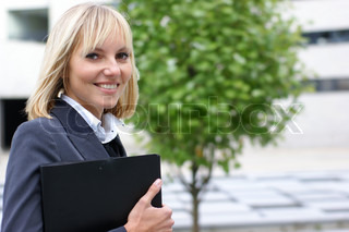 Young attractive businesswoman