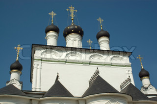 domes of russian monastery