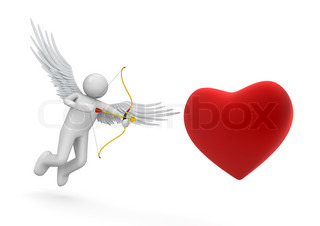 Cupid love, valentine day series 3d isolated characters