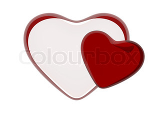 12000px glass huge HQ 3d hearts love, valentine day, wedding series