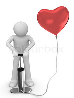 Pumping love baloon love, valentine day series 3d isolated character