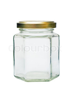 empty glass jar with metal lid
