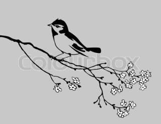 bird silhouette on gray background