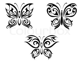 Butterfly tatovering