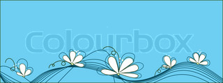 Beautiful white flowers against of turquoise background