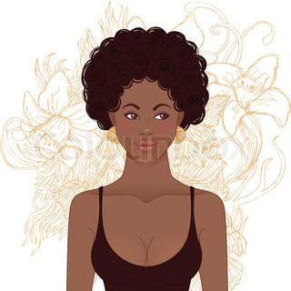 African And Latin American Cartoon People Dressed In