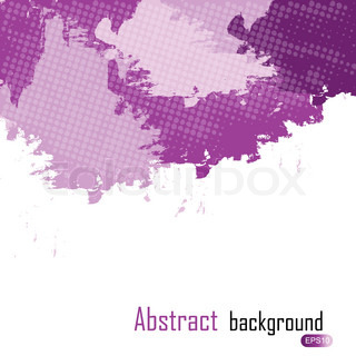 purple abstract paint splashes illustration Vector background with place for your text