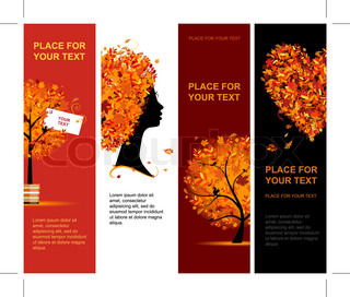 Autumn banners vertical for your design