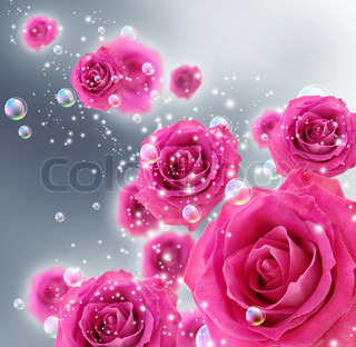 Roses and bubbles