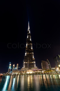 Burj Khalifa, Dubai,  night view