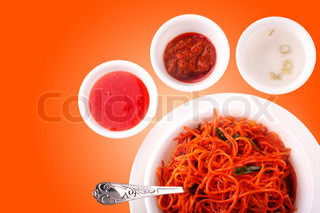 Fried noodles, Chow mein,Asian cuisine also called schezwan noodles in India Image with clipping path