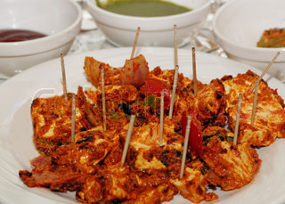 Traditional indian dish made of paneer and vegetables mixed with masala