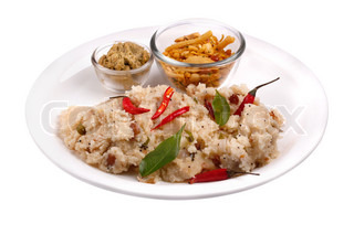 South indian upma and chutney