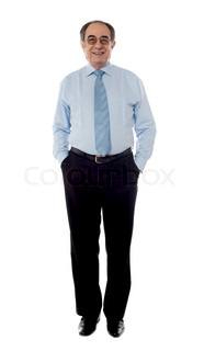 Full shot of a matured businessman