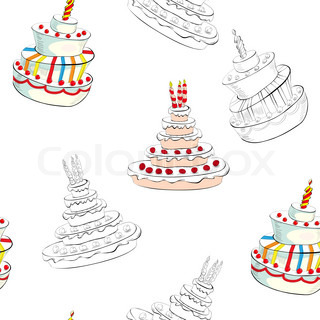 wedding cake box design vector seamless background with wedding cake vector colourbox 22061