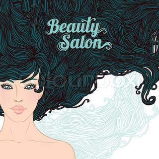 Beauty salon h bsche junge br nette frau mit sch nen for Cloud 9 salon dehradun