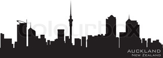 Auckland, New Zealand Detailed vector silhouette