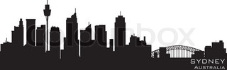 Sydney, Australia skyline Detailed vector silhouette