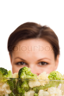 pregnant woman with vegetables