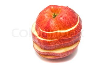 fresh red apple slices