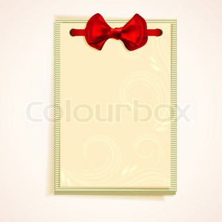 Cards notes with red bow