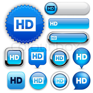 HD high-detailed web button collection