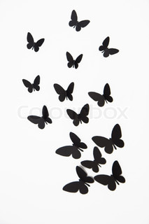 how to draw a butterfly with little space