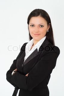 beautiful woman in a business suit