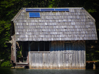 Fishing lodge with Solar array