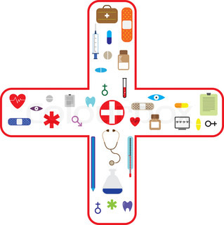 Medical icon set for health care industry