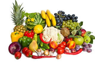 The group of fruits and vegetables