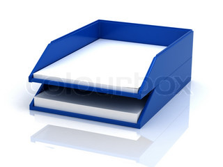 Trays For Papers Stock Photo Colourbox