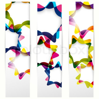 Abstract vertical banner with forms of empty frames for your www design