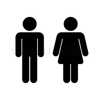 Pictogram black woman and man