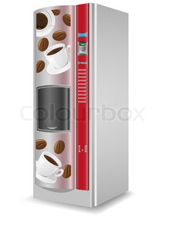 vending coffee is a machine illustration