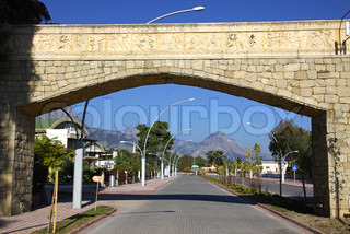 Street of City of Kemer, Antalya province, Turkey