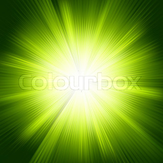 Green template color design with a burst EPS 8